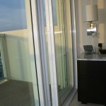 Hotel sliding glass door