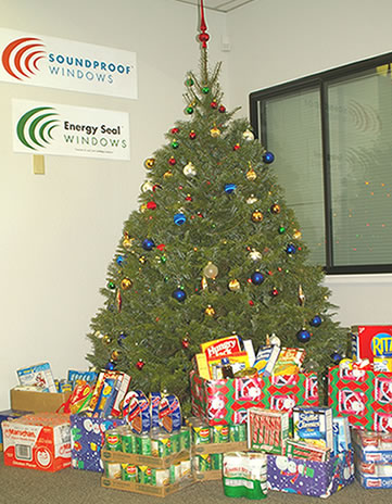 Food donated to the Northern Nevada Food Bank by Soundproof Windows and friends