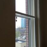 Soundproof single hung window