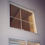 Another photo after the Soundproof Window installation showing the fixed window with one light (pane)