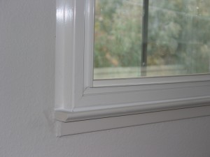 Close up of soundproof window sill